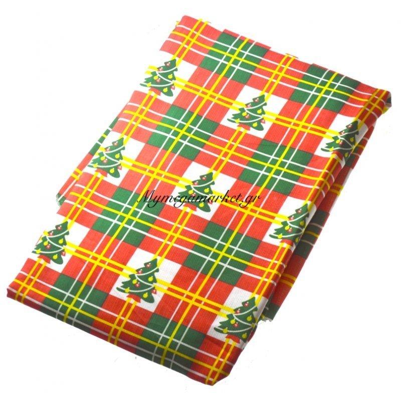 Τραπεζομάντηλο Χριστουγεννιάτικο αλέκιαστο σχέδιο δεντράκια 160R
