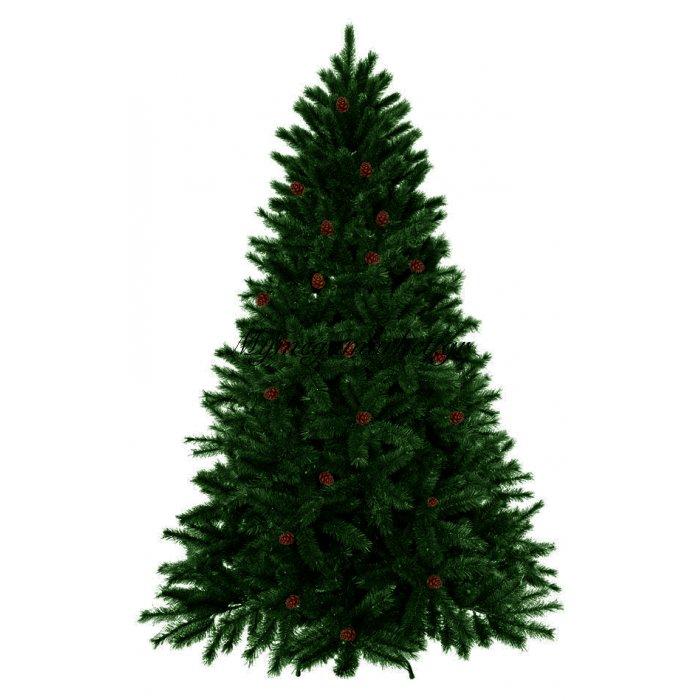 Δέντρο χριστουγεννιάτικο πράσινο με κουκουνάρι Forest 240 cm | Mymegamarket.gr
