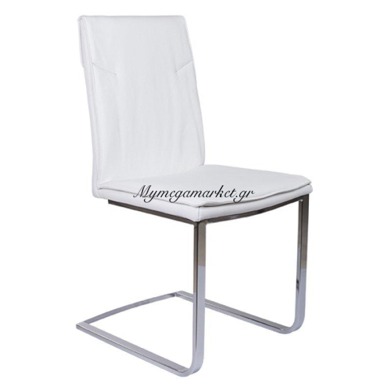 Καρέκλα Sestina Λευκό τενχόδερμα ποιότητας Pu