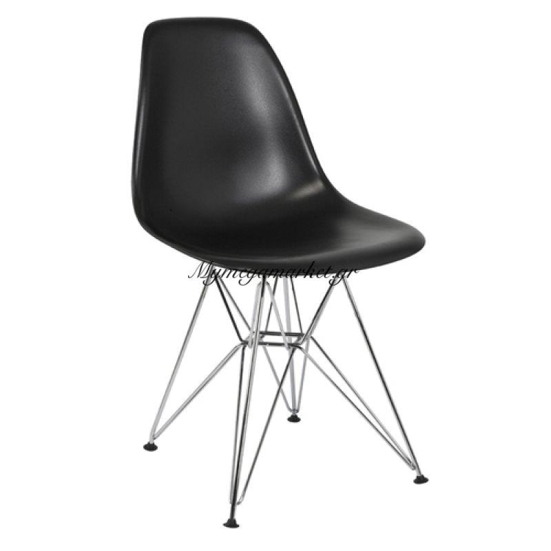 Καρέκλα τραπεζαρίας Anita Μαύρο τενχόδερμα ποιότητας Pu