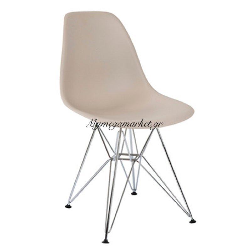 Καρέκλα τραπεζαρίας Anita Μόκα τενχόδερμα ποιότητας Pu