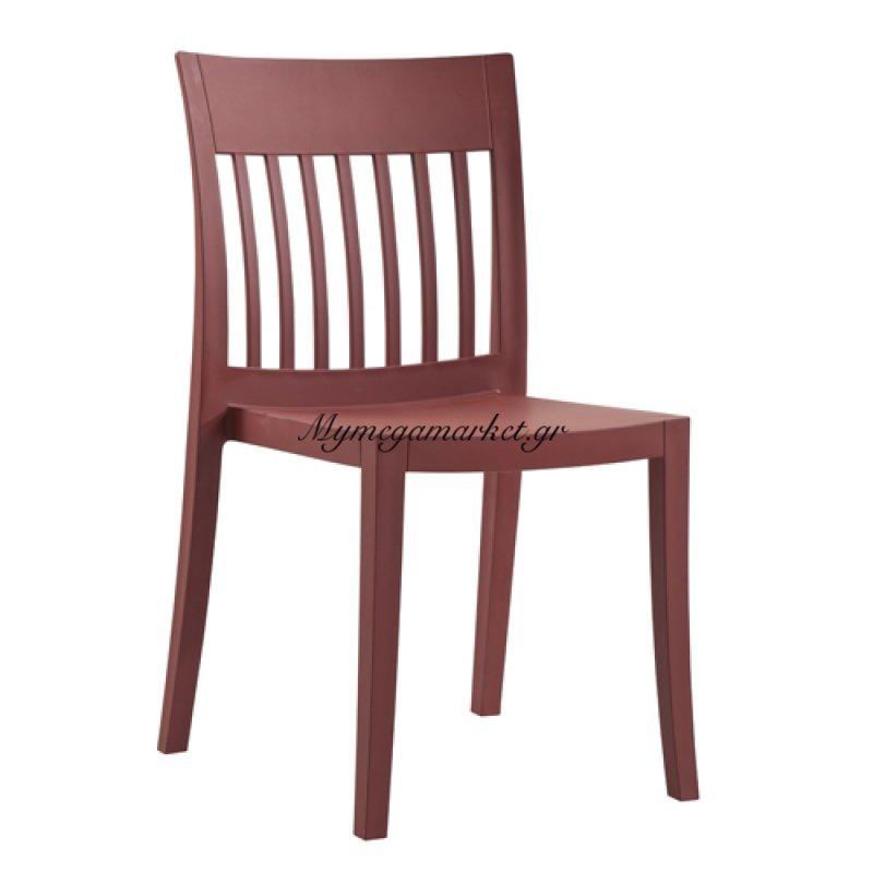 Καρέκλα Eden - S Ματ Μπορντώ