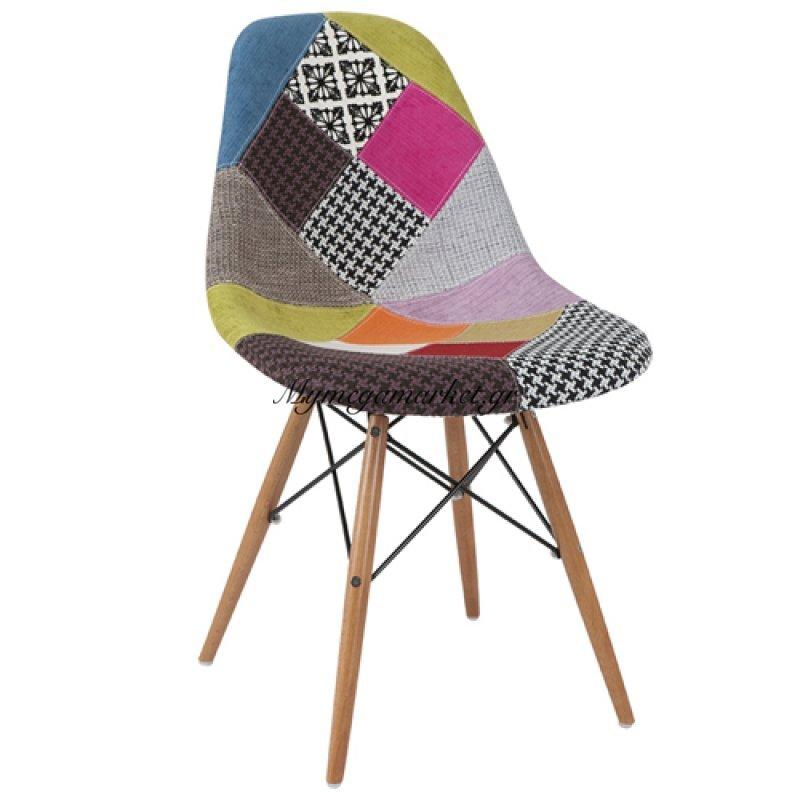 Καρέκλα Anita - Wood Patchwork 1 Pu