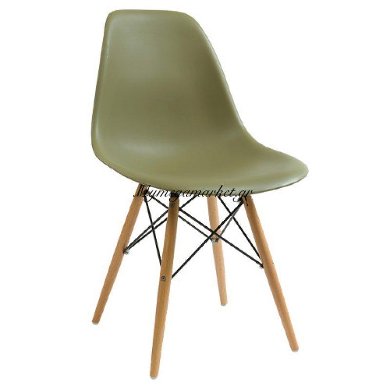 Καρέκλα  Anita Wood λαδί Abs με Pu