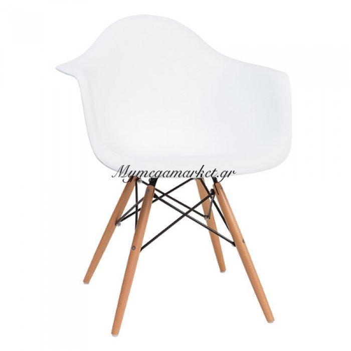 Πολυθρόνα Quadra-Wood Λευκό Pp | Mymegamarket.gr