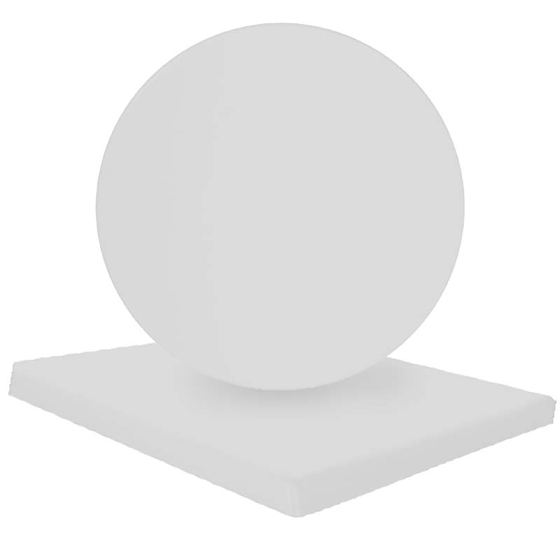 Επιφάνεια τραπεζιού Normal απο Βερσαλίτη σε χρώμα Iso λευκό Φ60