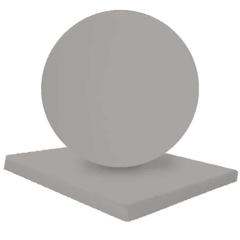 Επιφάνεια τραπεζιού Normal απο Βερσαλίτη σε χρώμα Iso silver Φ70