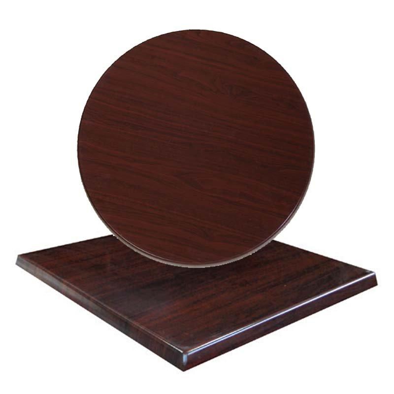 Επιφάνεια τραπεζιού Normal απο Βερσαλίτη σε χρώμα Iso σκούρο καρυδί Φ70