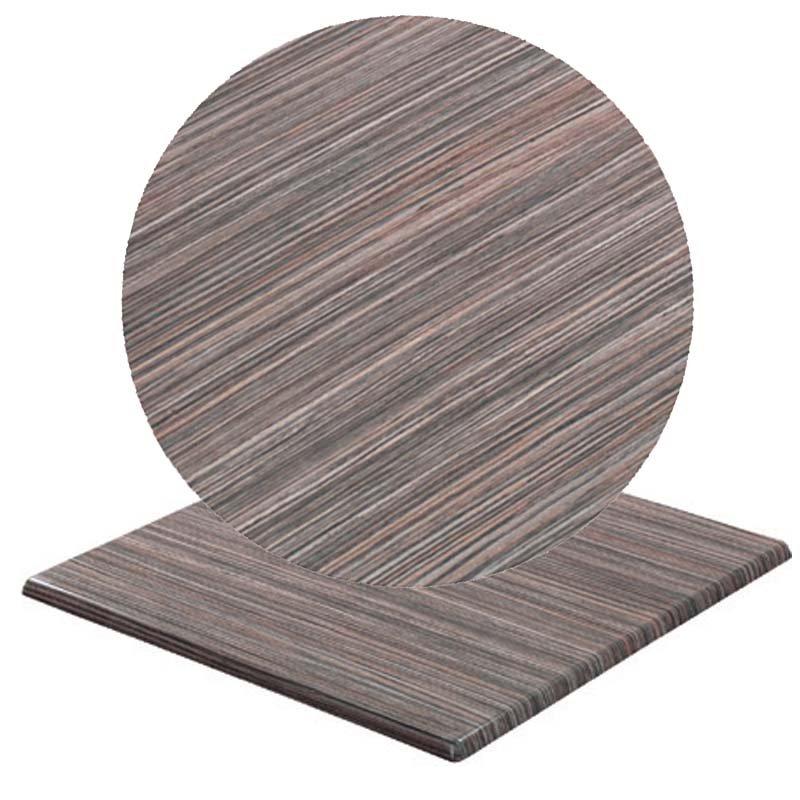 Επιφάνεια τραπεζιού Normal απο Βερσαλίτη σε χρώμα Iso zebrano rustic Φ60