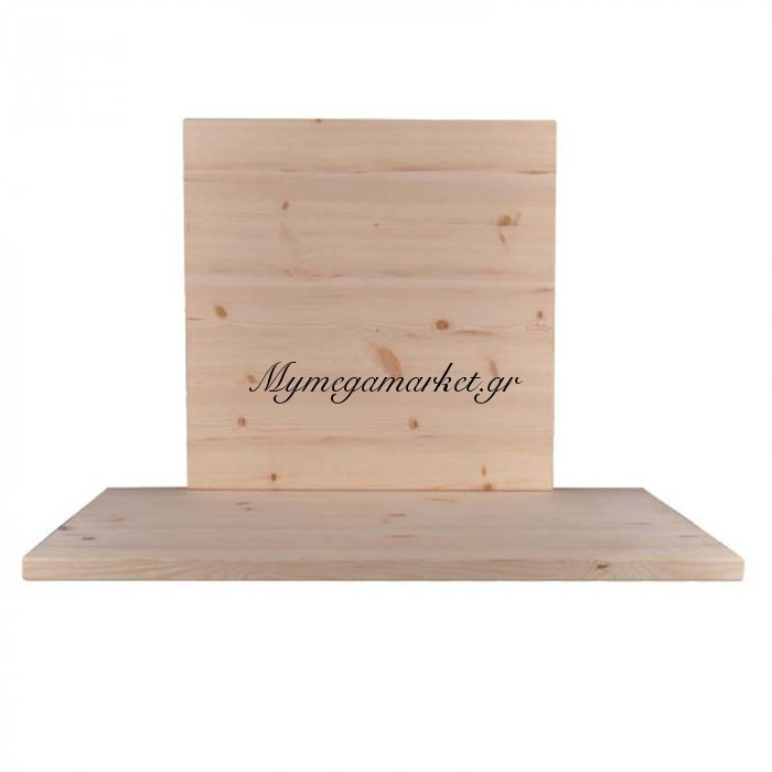 Pine Καπάκι 70X70/4Cm, Άβαφο (Ξύλο Πεύκου) | Mymegamarket.gr