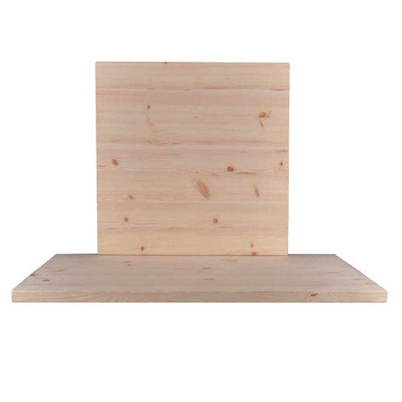 Pine Καπάκι 70X70/4Cm, Άβαφο (Ξύλο Πεύκου)