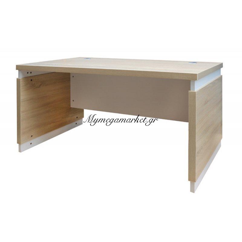 Atlas Wood Γραφείο 160X80Cm Sonoma/λευκό Στην κατηγορία Γραφεία   Mymegamarket.gr