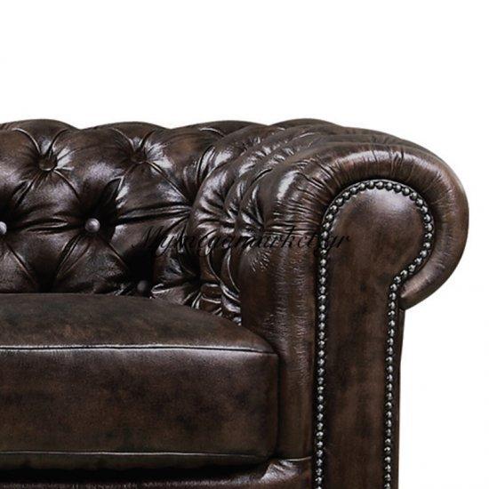 Chesterfield 689 2Θεσ.δέρμα Καφέ 160X92X72Cm Στην κατηγορία Καναπέδες | Mymegamarket.gr