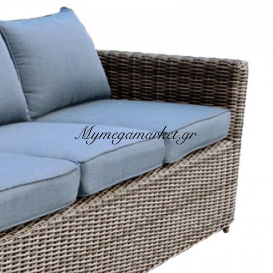 Arizona Καναπ.4Θέσ.alu/wicker Grey Brown Μαξ.aνθρακί Στην κατηγορία Καναπέδες - Κρεβάτια | Mymegamarket.gr