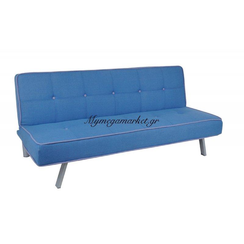 Cord Καναπ.κρεβάτι Ύφασμα Μπλε 180X83X79Cm Στην κατηγορία Καναπέδες - Κρεβάτια | Mymegamarket.gr