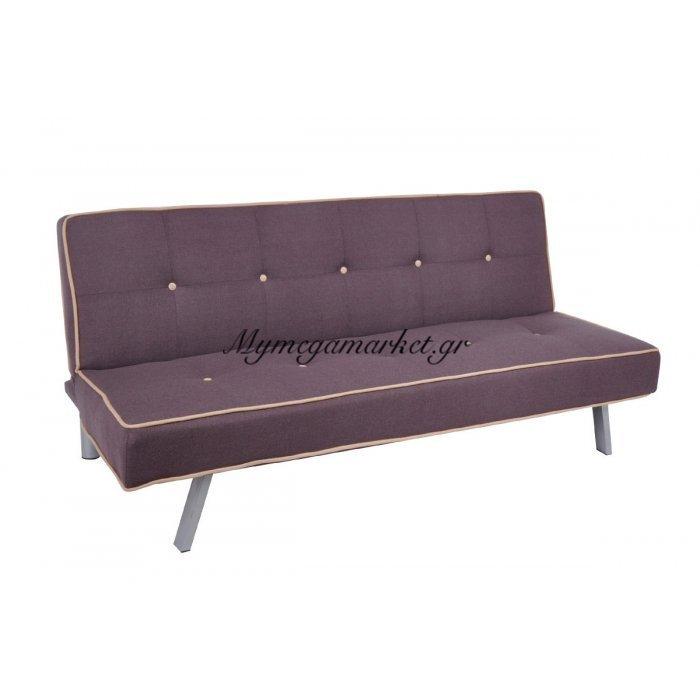 Cord Καναπ.κρεβάτι Ύφασμα Σκ.καφέ 180X83X79Cm | Mymegamarket.gr