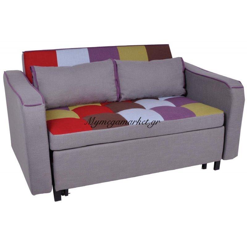 Kent Καναπές 2Θέσιος-Κρεβάτι Ύφ.patchwork 147X86X82Cm Στην κατηγορία Καναπέδες - Κρεβάτια | Mymegamarket.gr