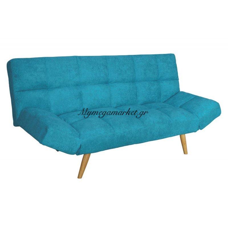 Καναπές - κρεβάτι Motion υφασμάτινος σε χρώμα γαλάζιο 182x81x84