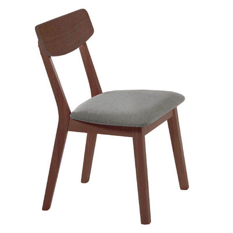 Kαρέκλα Calvin με ύφασμα σε χρώμα γκρί