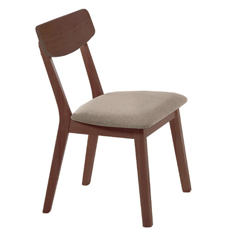 Kαρέκλα Calvin με ύφασμα σε χρώμα μπέζ by Mymegamarket.gr