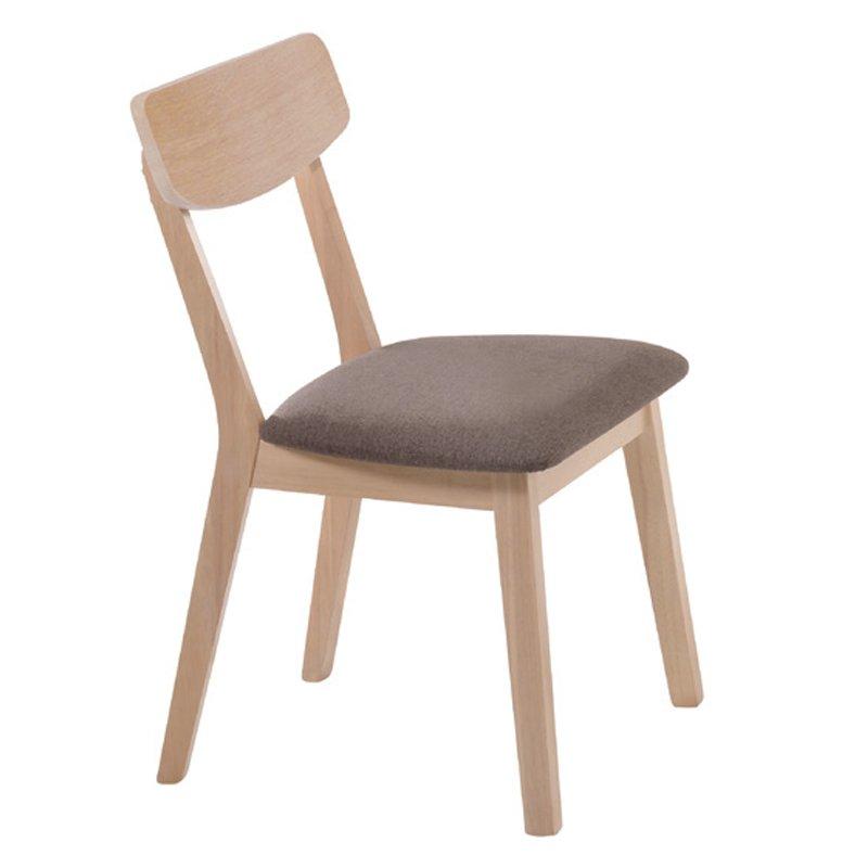 Kαρέκλα Calvin με ύφασμα σε χρώμα σκούρο καφέ