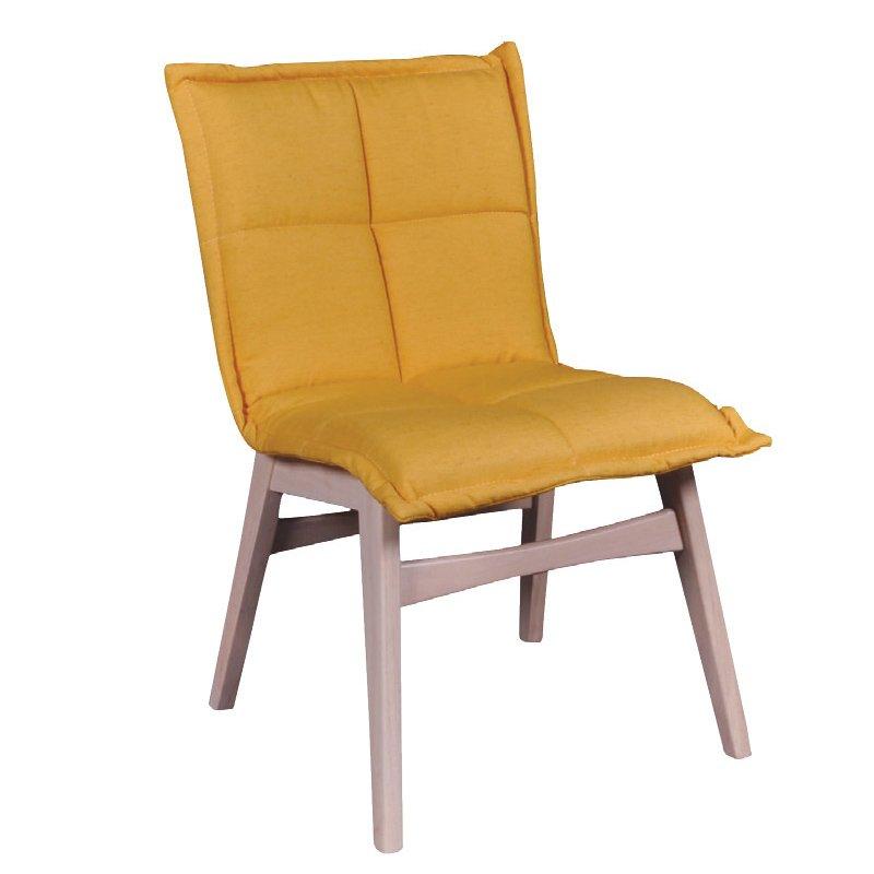 Forex Καρέκλα White Wash/ύφασμα Κίτρινο Στην κατηγορία Καρέκλες εσωτερικού χώρου   Mymegamarket.gr
