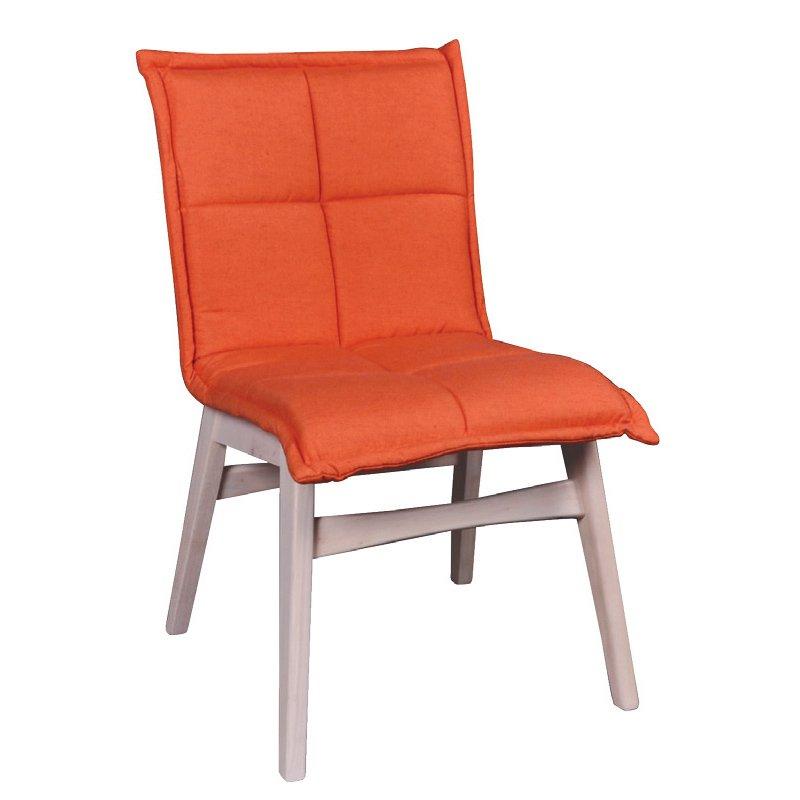 Forex Καρέκλα White Wash/ύφασμα Πορτοκαλί Στην κατηγορία Καρέκλες εσωτερικού χώρου | Mymegamarket.gr
