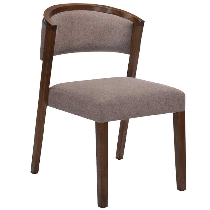 Kevin Καρέκλα Καρυδί/ύφασμα Αν.καφέ Στην κατηγορία Καρέκλες εσωτερικού χώρου | Mymegamarket.gr