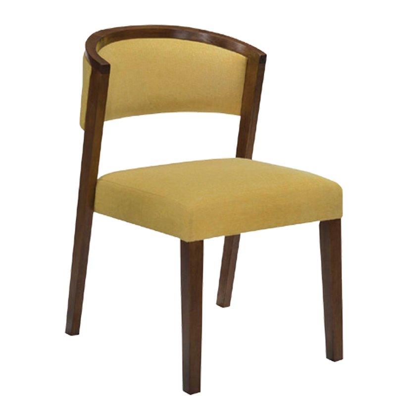 Kevin Καρέκλα Καρυδί/ύφασμα Champagne Στην κατηγορία Καρέκλες εσωτερικού χώρου | Mymegamarket.gr