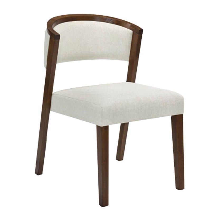 Kevin Καρέκλα Καρυδί/ύφασμα Εκρού Στην κατηγορία Καρέκλες εσωτερικού χώρου | Mymegamarket.gr