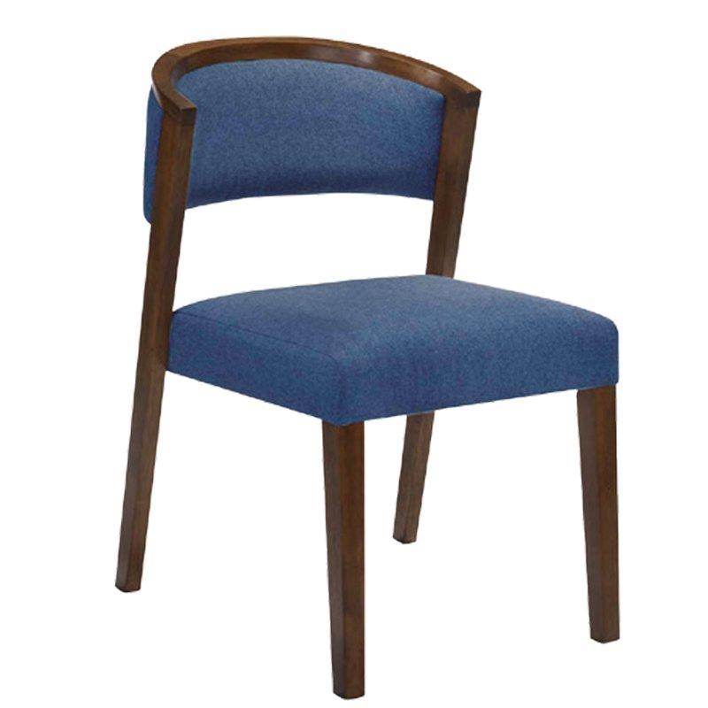 Kevin Καρέκλα Καρυδί/ύφασμα Μπλε Στην κατηγορία Καρέκλες εσωτερικού χώρου | Mymegamarket.gr