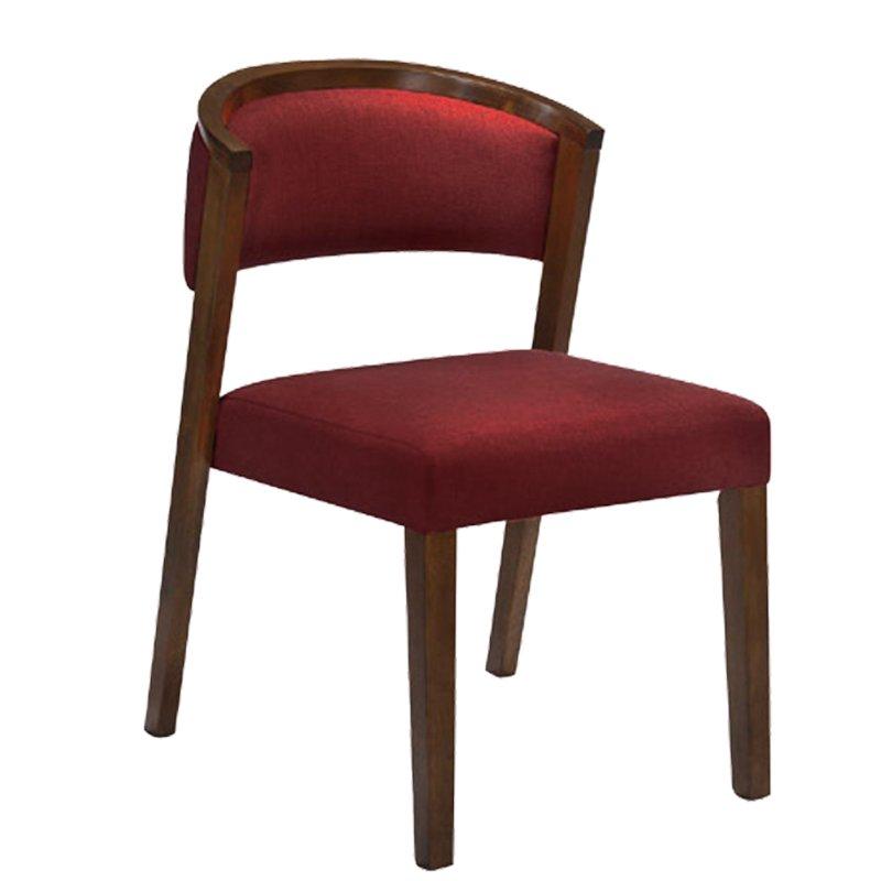 Kevin Καρέκλα Καρυδί/ύφασμα Σκ.κόκκινο Στην κατηγορία Καρέκλες εσωτερικού χώρου   Mymegamarket.gr
