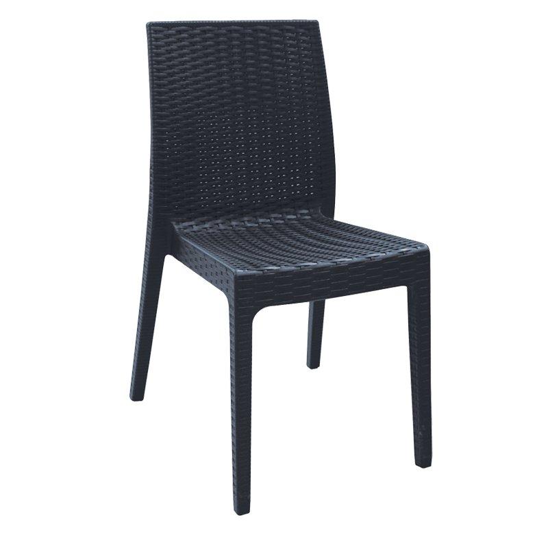 Dafne Καρέκ.πλαστική Ανθρακί (Rattan Look) Στην κατηγορία Καρέκλες κήπου - Σκαμπό | Mymegamarket.gr