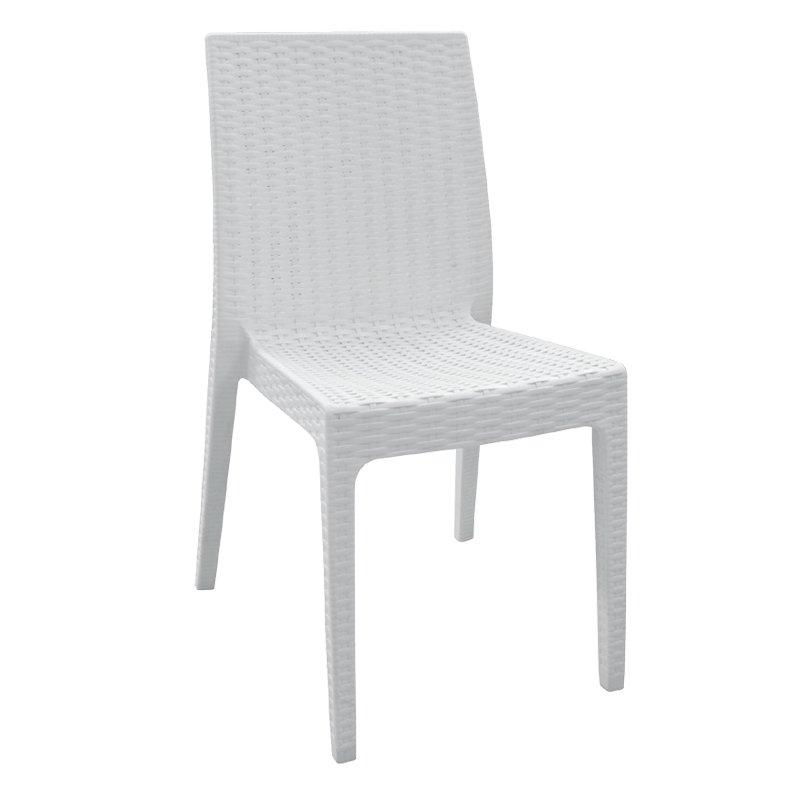 Dafne Καρέκ.πλαστική Άσπρη (Rattan Look)