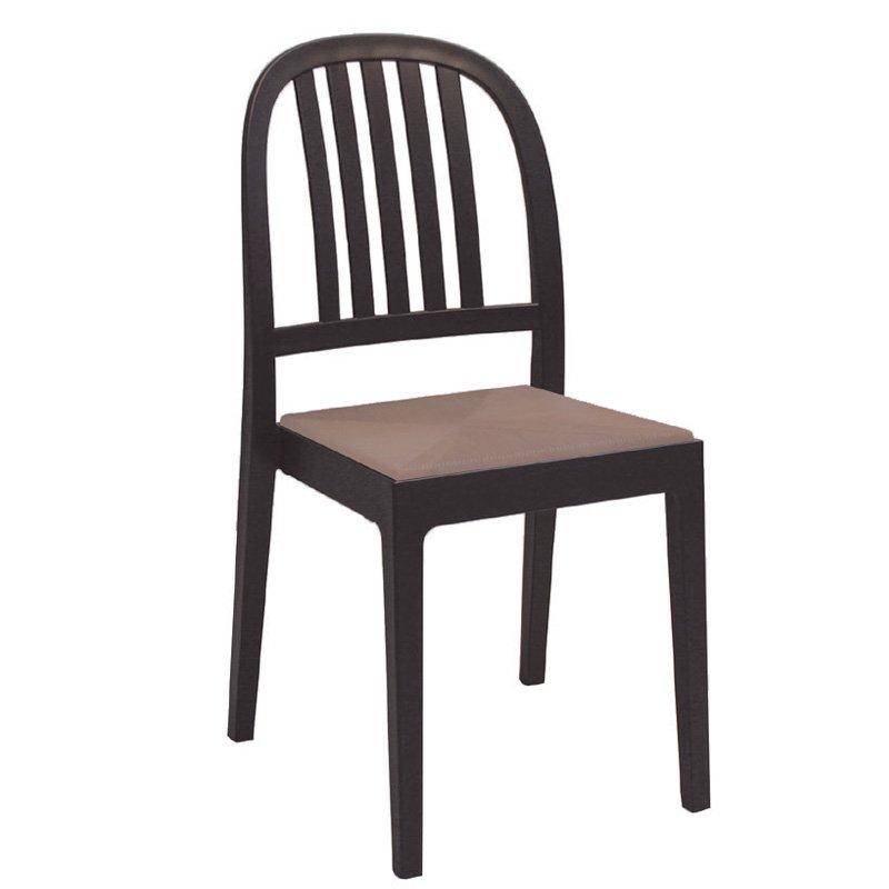Era Καρέκ.πλαστική Καφέ Στην κατηγορία Καρέκλες κήπου - Σκαμπό | Mymegamarket.gr
