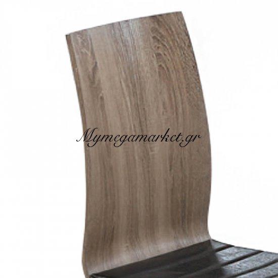 Division Καρέκλα Χρώμιο/sonoma Oak, Pu Καφέ Στην κατηγορία Καρέκλες εσωτερικού χώρου | Mymegamarket.gr