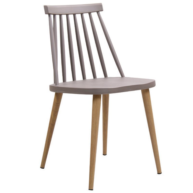 Καρέκλα μεταλλική Lavida χρώμα φυσικό με κάθισμα πολυπροπυλενίου σε χρώμα sand beige