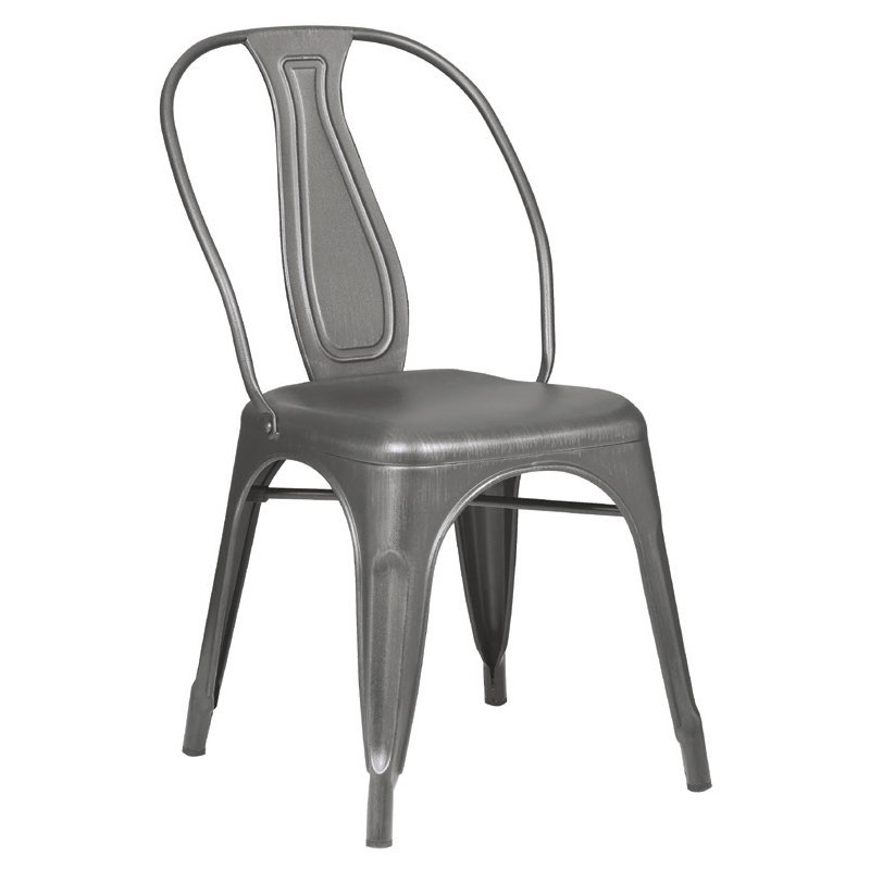 Καρέκλα Relix plus μεταλλική σε μεταλλικό χρώμα