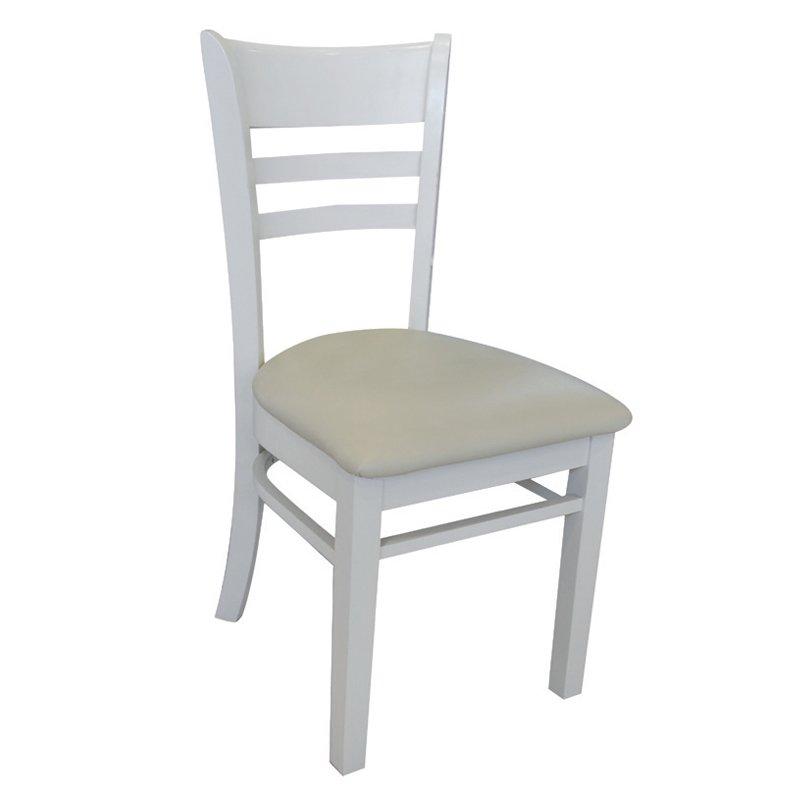 Cabin Καρέκλα Λευκή/pvc Εκρού 42X48X91Cm Στην κατηγορία Καρέκλες εσωτερικού χώρου   Mymegamarket.gr