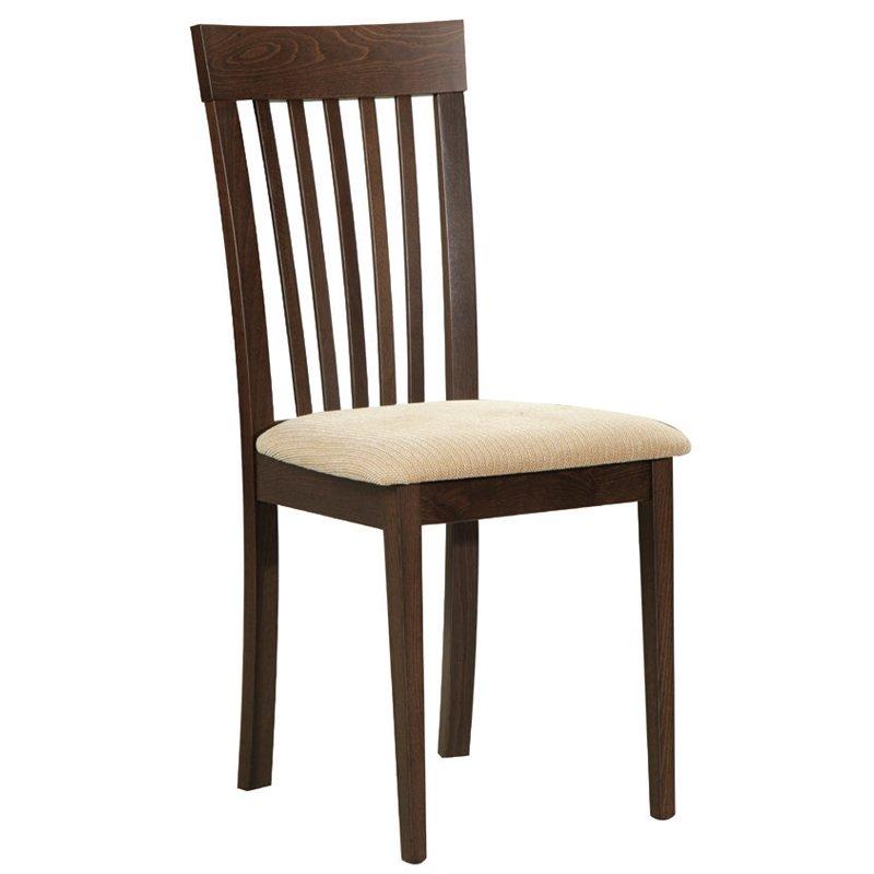 Corina Καρέκλα Οξυά Σκ.καρυδί/pvc Εκρού Στην κατηγορία Καρέκλες εσωτερικού χώρου | Mymegamarket.gr
