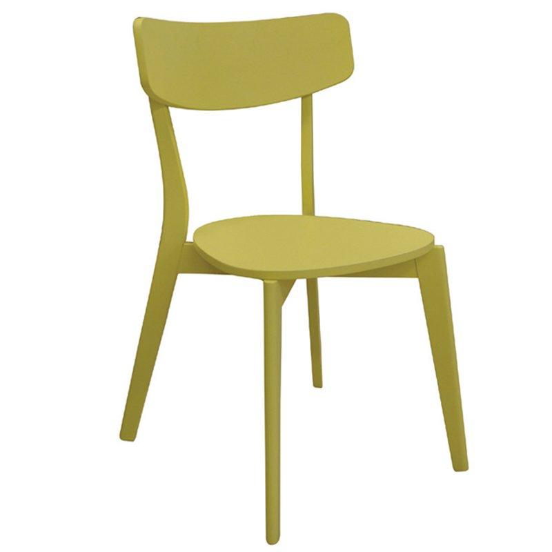 Καρέκλα ξύλινη Memory κίτρινη