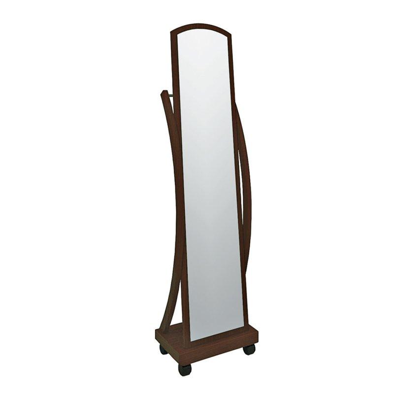 Καθρέφτης Roger δαπέδου χρώμα καρυδί 44x29x165