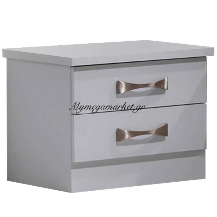 Κομοδίνο Life λευκό 48x40x39 | Mymegamarket.gr