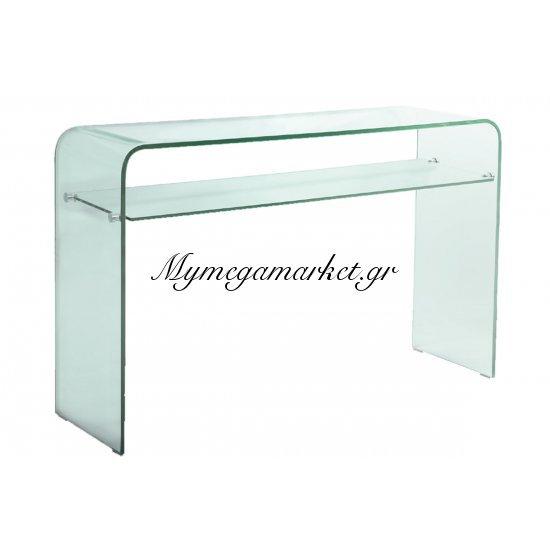 Glasser Clear Κονσόλα Με Ράφι Γυαλί 12Mm 110X35X75Cm Στην κατηγορία Κονσόλες - Τουαλέτες | Mymegamarket.gr