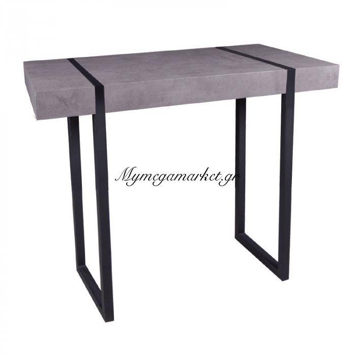 Tablot Κονσόλα 100X35X80 Γκρι-Cement/βαφή Μαύρη | Mymegamarket.gr