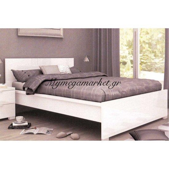 Alexia Κρεβάτι 160X200 Άσπρο High Gloss Στην κατηγορία Κρεβάτια ξύλινα - Μεταλλικά | Mymegamarket.gr