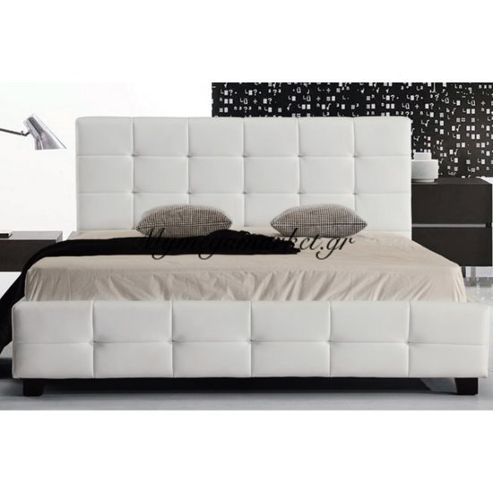Fidel Κρεβάτι 160X200Cm Pu Άσπρο Στην κατηγορία Κρεβάτια ξύλινα - Μεταλλικά | Mymegamarket.gr
