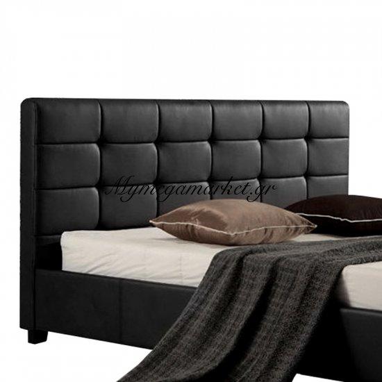 Fidel Κρεβάτι 160X200Cm Pu Μαύρο Στην κατηγορία Κρεβάτια ξύλινα - Μεταλλικά | Mymegamarket.gr