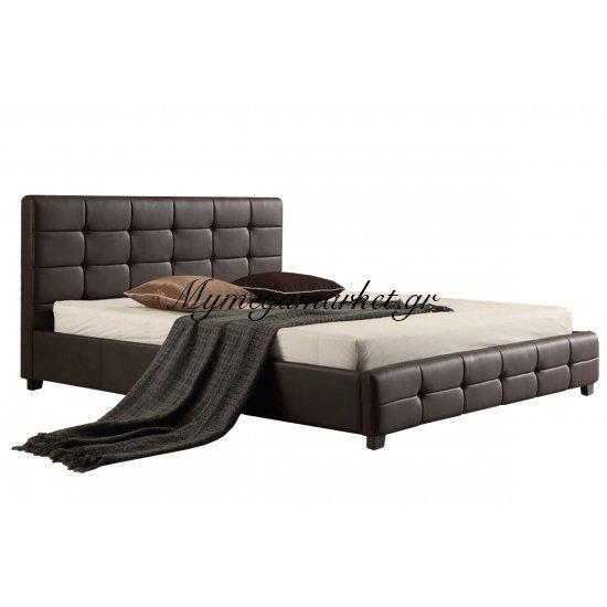 Fidel Κρεβάτι 160X200Cm Pu Σκ.καφέ Στην κατηγορία Κρεβάτια ξύλινα - Μεταλλικά | Mymegamarket.gr