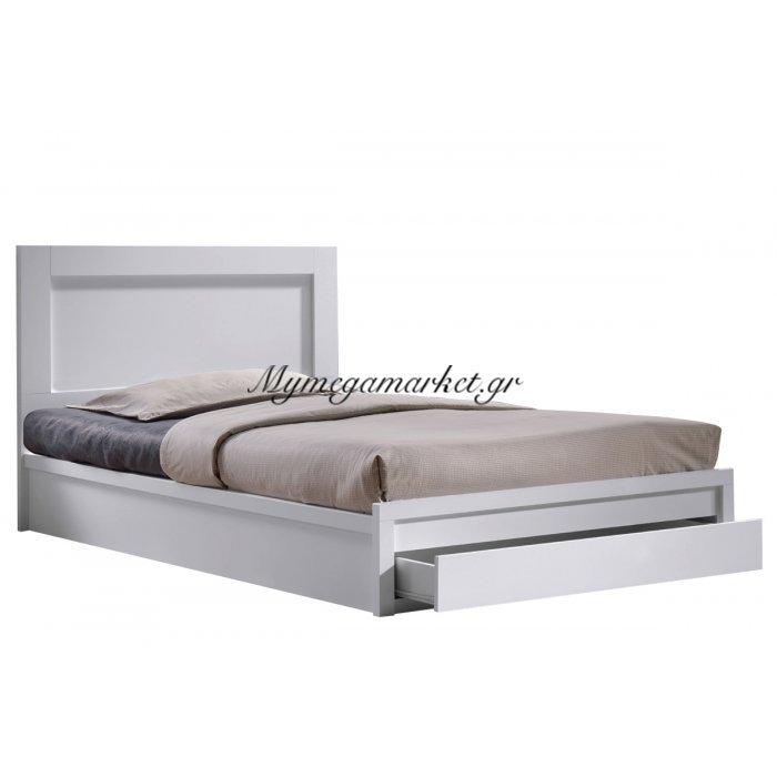 Κρεβάτι Life με συρτάρι άσπρο 90x200   Mymegamarket.gr